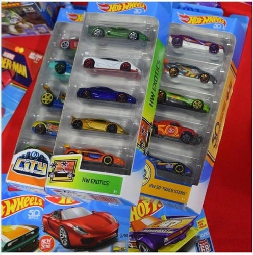 carritos hot wheels pack 5, marvel