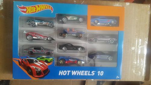 carritos hot wheels set de 10 unds originales