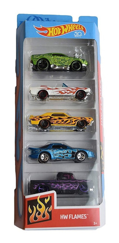 carritos hotwheel 5pk hot wheels juguetes original mattel