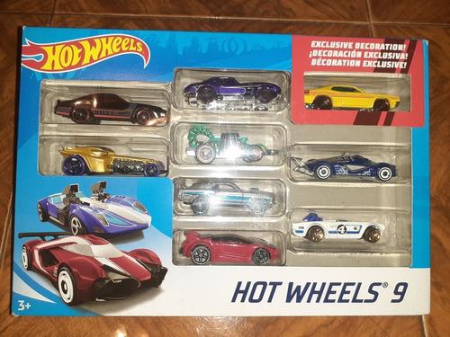 carritos hotwheels set de 9 unidades preguntar precio leer