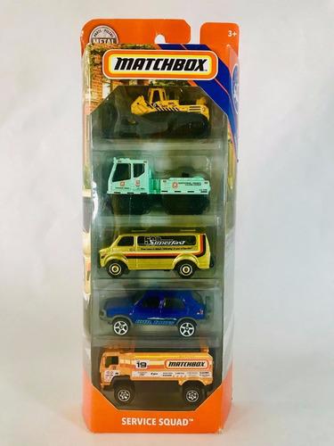 carritos matchbox caja de 9 unidades y blister 5 unidades