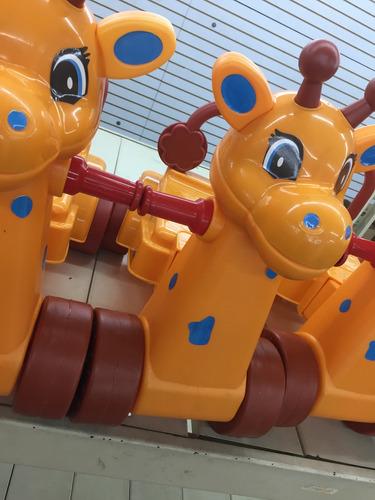 carritos montables jirafa y caballo niños y niñas