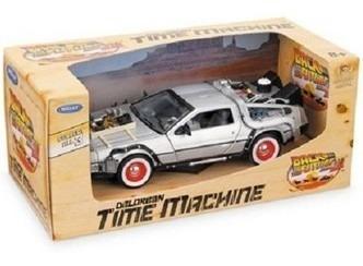 carro 1/24 delorean regreso al futuro maquina del tiempo 3