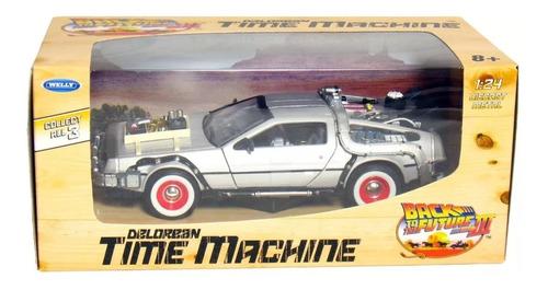 carro 1/24 delorean volver al futuro maquina del tiempo und
