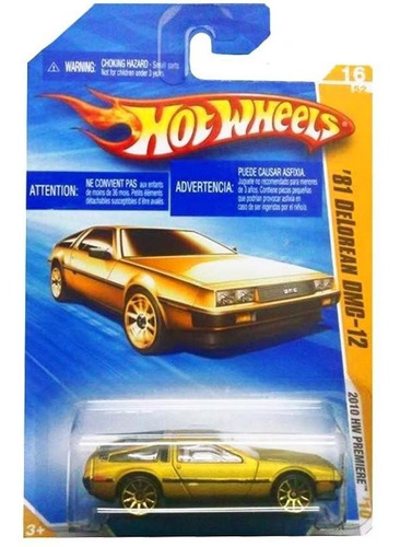 carro '81 delorean dmc-12 - miniatura - hot wheels 1:64