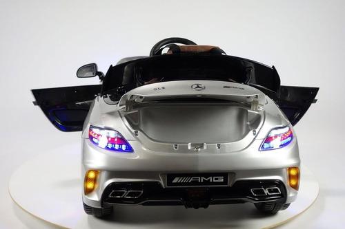 carro a bateria mercedes benz sls con pantalla mp4 - plomo
