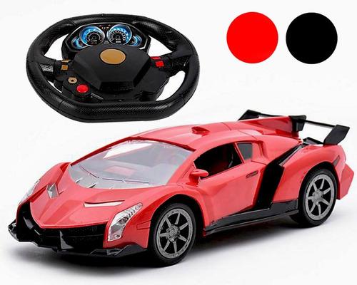 carro a control remoto con timon juguete niño
