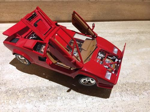 carro a escala 1/18 lamborghini countach 1998
