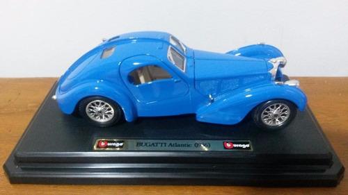 carro a escala 1:24 bugatti atlantic 1936