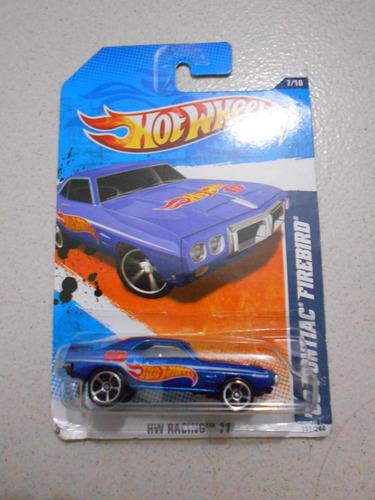 carro a escala hotwheels pontiac firebird 69 hw racing