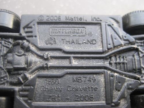 carro a escala matchbox corvette zr1 2008