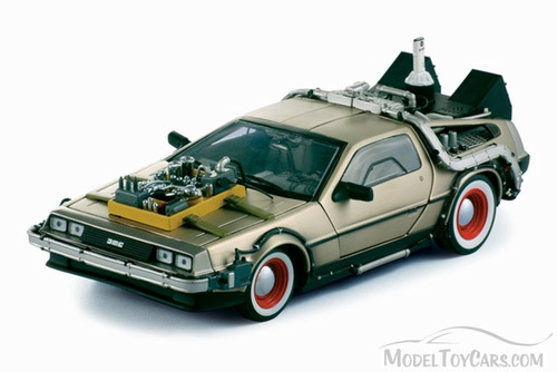 carro a escala modelo: 1981 delorean dmc 12 coupe regreso