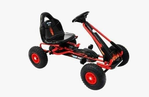 carro a pedal karting  fórmula 1  niños llantas inflables