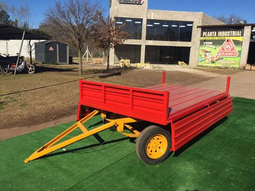 carro agricola vehicular roland h2000 kg 2 ejes con avantrén