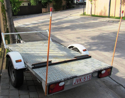 carro arrastre aero van plataforma abierta