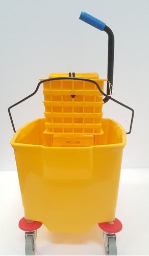 carro balde con escurridor capacidad 36 ltrs. amarillo