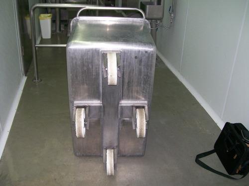 carro batea en acero inoxidable, capacidad 350 litros