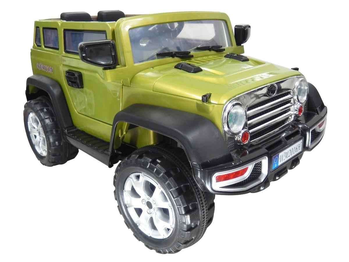 Carro Bateria Electrico Bebe Juguete Jeep Rubicon Solo Rojo