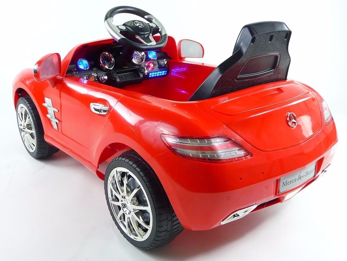 Carro Bateria Red Mercedes Benz Sls R C Mp3 Kids Ride O 1 500