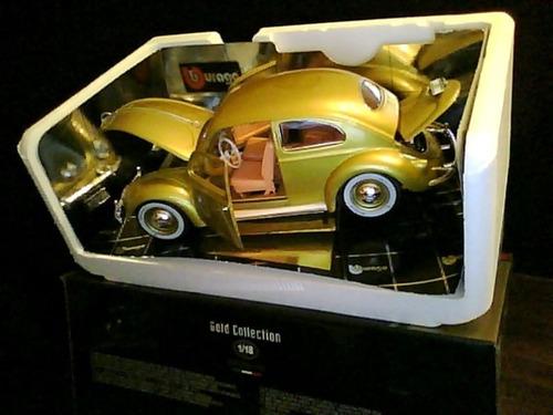 carro bburago volkswagen kafer beetle 1955 1/18