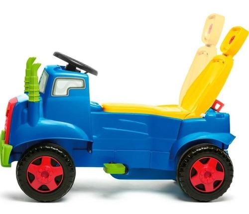 carro calesita mk truck 982 azul/vermelho