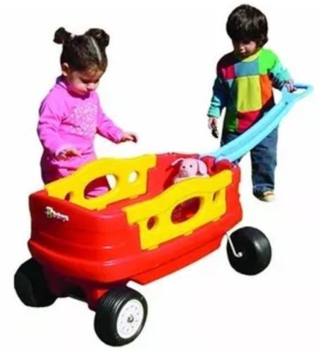 carro carrito americano arrastre wagon rotoys 1 a 6 años