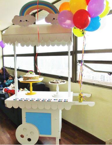 carro carrito candybar candy bar cumpleaños evento