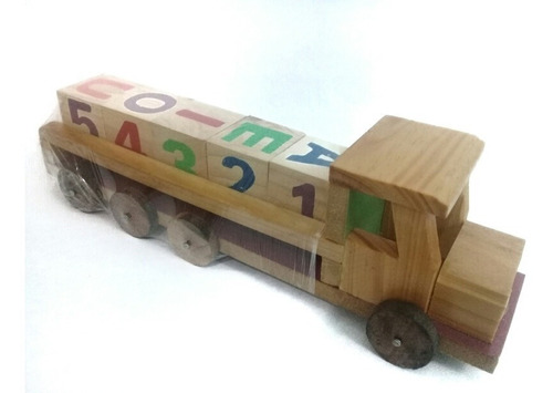 carro carrito de madera juego didactico juguete artesanía