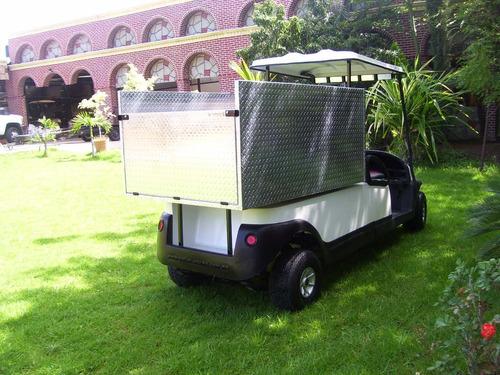 carro /carrito eléctrico industrial plataforma con caja alta