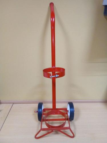 carro carrito para tubo de oxigeno o nitrógeno de 1/2 metro