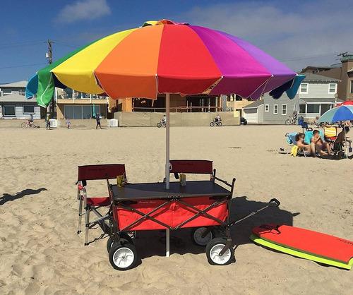carro carrito sombrilla mesa todo terreno  playa