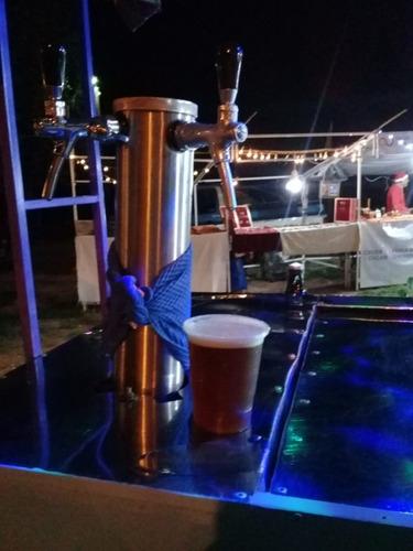 carro chopero (cervecero).doble canilla.con lanza pivoteable