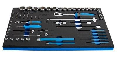 carro con 187 herramientas uvicadas en bandejas sos unior