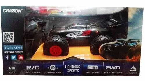carro control escala 1/18 auto juguete lightning 171801b
