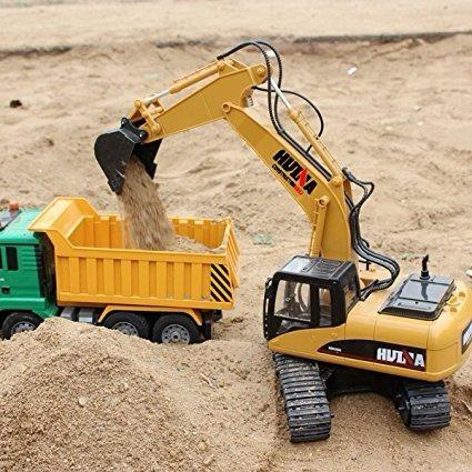 carro control remoto rc niño excavadora, función completa