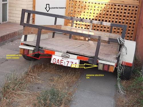 carro de arrastre capacidad 500 kilos excelente estado