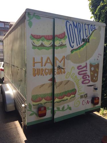 carro de arrastre para funcionar como food  truck