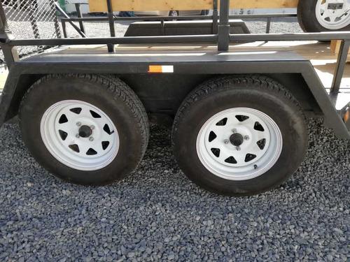 carro de arrastre semi nuevo doble eje, neumáticos nuevos