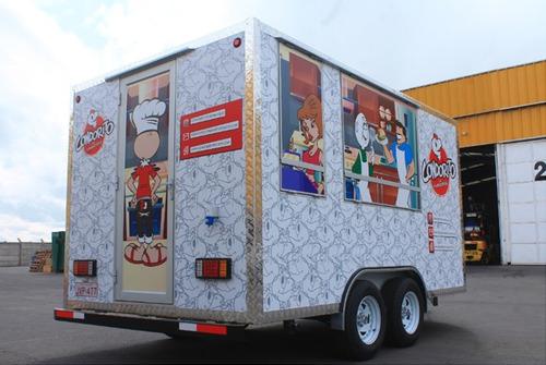 carro de arrastre tipo food truck, nuevo, 100% equipado
