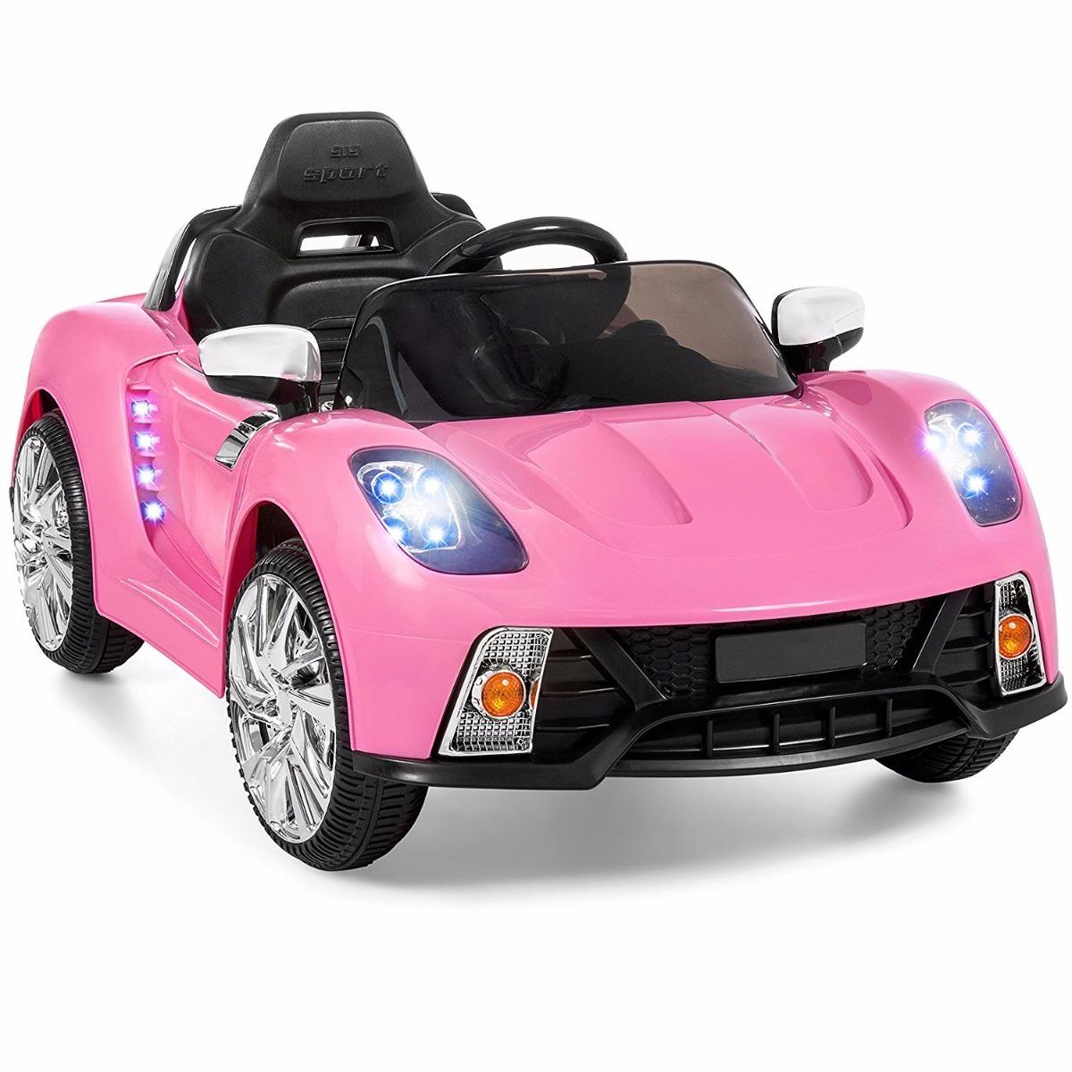 Carro De Bater 237 A El 233 Ctrica Con Mp3 Color Rosa Rosa Para
