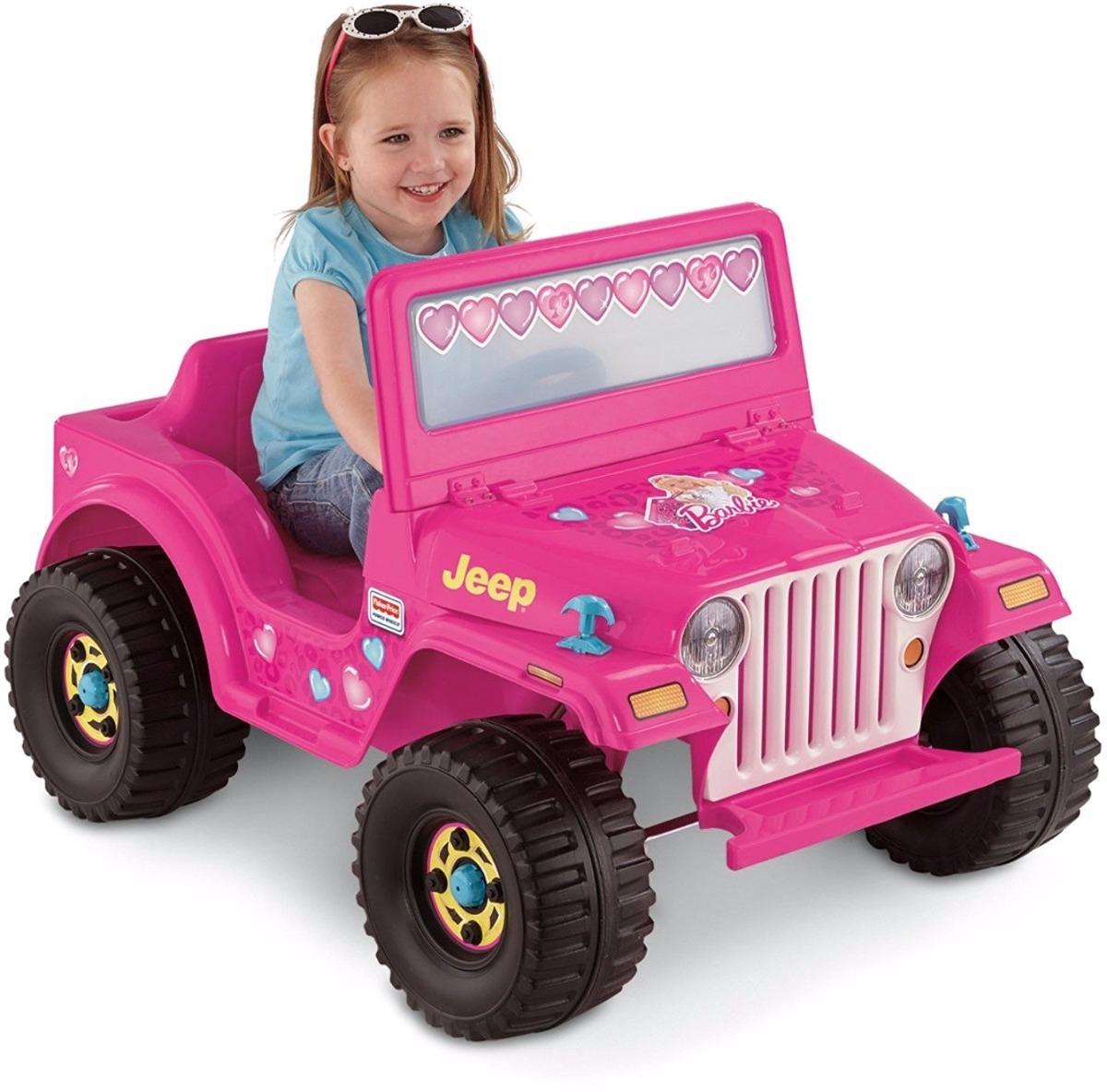 d116812ca carro de batería jeep color rosa para niñas marca barbie. Cargando zoom.