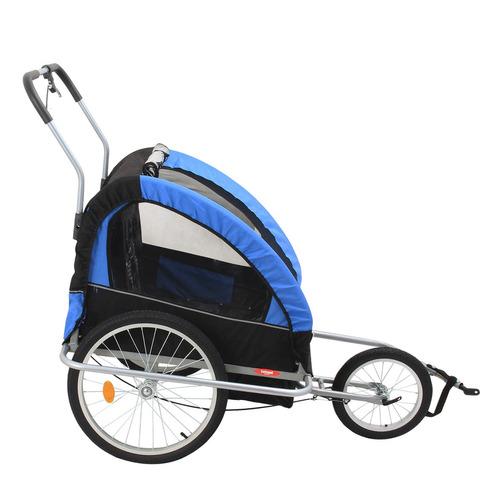 carro de bicicleta azul
