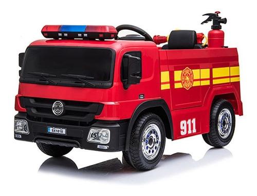 carro de bomberos para niño, montable con control remoto