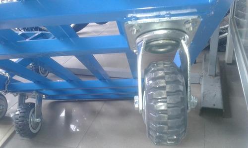 carro de carga 250 kgs, 60 x 90 cms y 90 alto plegable
