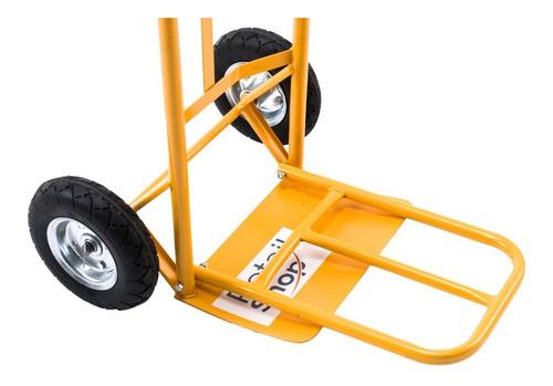 carro de carga profesional 250kg - rueda maciza
