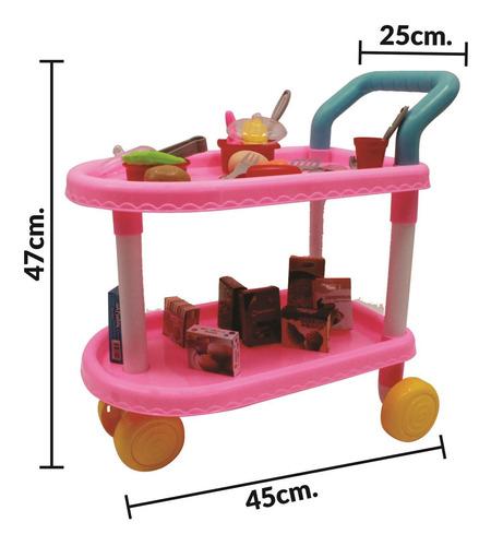 carro de cocina restaurante cocina juguete 46 piezas - el re