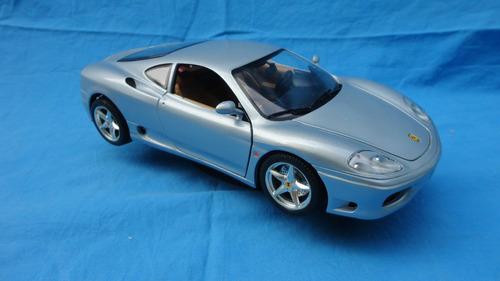 carro de colección esc 1/18,ferrari 360 modena 1999 gris.25$