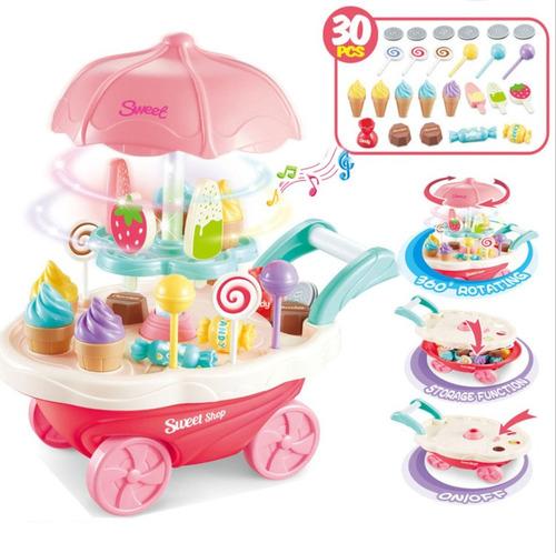 carro de dulces y helados luz sonido nenas 30acc original