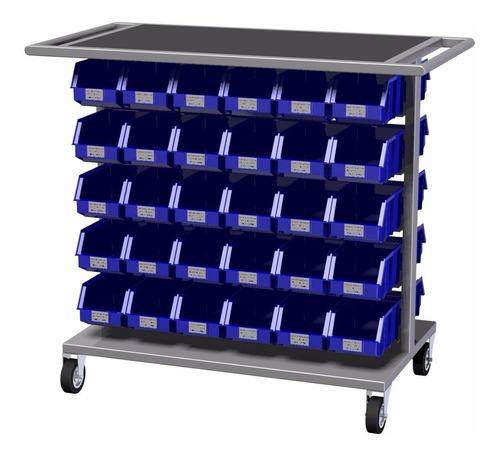 carro de fácil manejo con gavetas en el interior tipo- c