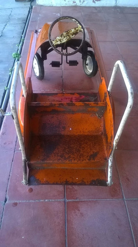 carro de pedales marca apache bomberos